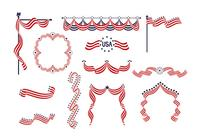 Usa band banners psd pack