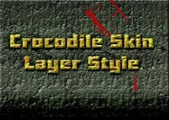 Style de couche de peau de crocodile