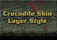 Estilo da camada de pele de crocodilo