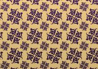 Purple and Gold Ornamental Patterned Background