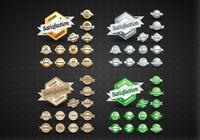 Gold, Silver, Bronze, & Green Satisfaction Labels PSD Set