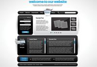 Sleek Black Website PSD Template
