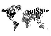 World Map Typography PSD