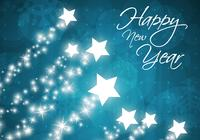 Star Filled Happy New Year Background