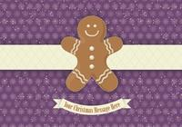 Purple Gingerbread PSD Background