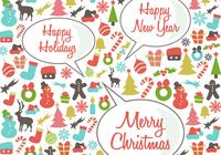 Rétro happy holidays psd background