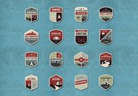 Outdoor y Camping Badge PSD Pack