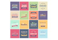 Summer Badges PSD Pack