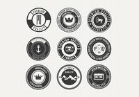 Divers PSD de badge Retro Premium