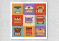 Retro-typewriter-psd-pack-photoshop-psds
