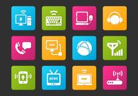 Communication Icon PSD Set