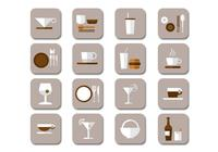Icônes de boissons plates Collection PSD