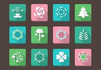 Floral Icons PSD Collection