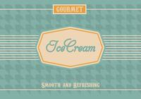 Vintage Ice Cream PSD Background