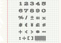 Sketchy Numbers Brushes