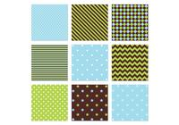 Blau, Grün, Seamless Patterns