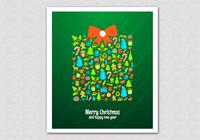 Green-christmas-gift-psd-background-photoshop-backgrounds