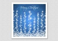 Blue Sparkling Happy Christmas Background