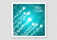 Teal Merry Christmas Star PSD Background