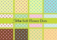 Soft Flower Polka Dot Patterns