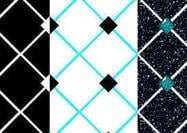 Diamond Pattern Tile: Set of 3