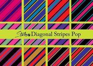 Diagonal stripes pattern pop