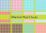 Soft Plaid Pattern Checks
