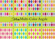 Patterns Argyle multi-couleurs brillants