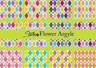 Flower-argyle-patterns