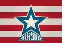 4th of July PSD Background