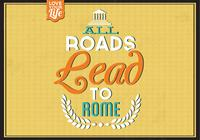 All Roads Lead to Rome PSD Background