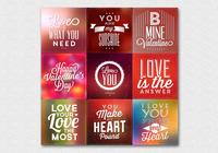 Blurry Valentine's Day PSD Backgrounds