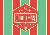 Striped Christmas PSD Background