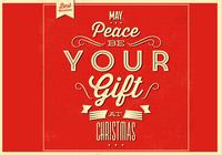 Peace Christmas PSD Background