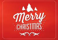 Red Merry Christmas PSD Background