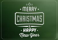 Emerald Merry Christmas PSD Contexte