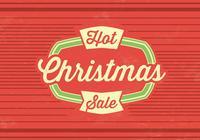 Hot Christmas Sale PSD Bakgrund