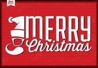 Hipster Santa Christmas PSD Background