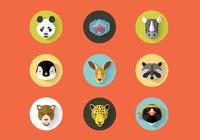 Wild Animals Portraits PSD Set