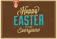 Happy Easter for Everyone PSD Background