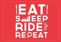 Eat Sleep Ride Repetir PSD de fondo