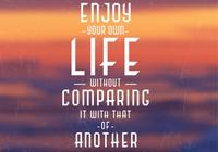 Enjoy Your Life PSD Background