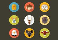 Flat Animal Icon Pack PSD