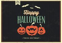 Grunge happy halloween psd background