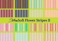 Soft Flower Pattern with Stripes II
