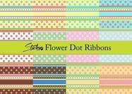 Flower-dot-ribbon-patterns