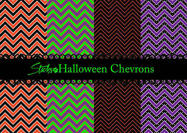 Halloween chevron mönster