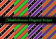 Halloween Diagonal Stripe Patterns