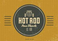 Fundo Vintage PSD do Hot Rod