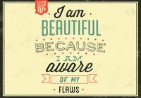 I am Beautiful PSD Background